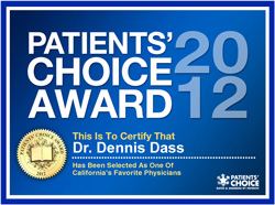 Dr Dennis Dass, MD Patients Choice Award 2012