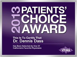 Dr Dennis Dass, MD Patients Choice Award 2013