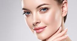 Closeup of a beautiful woman's face